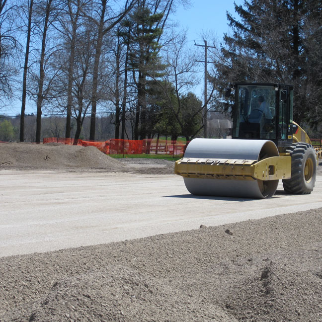 Compacting the base course for the Grass Paver - Grasspave2