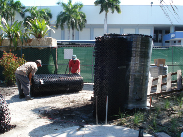 Rolls of Grasspave2 permeable pavement