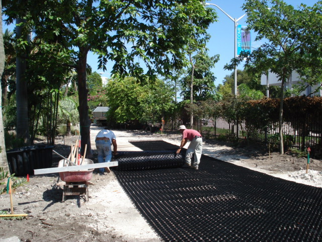 Unrolling the permeable grass paver