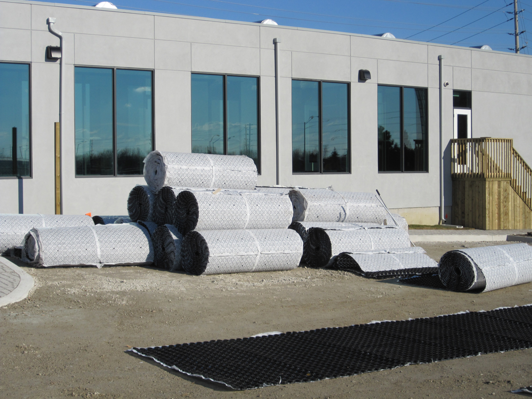 Rolls of model 2020 Gravelpave2 permeable pavement