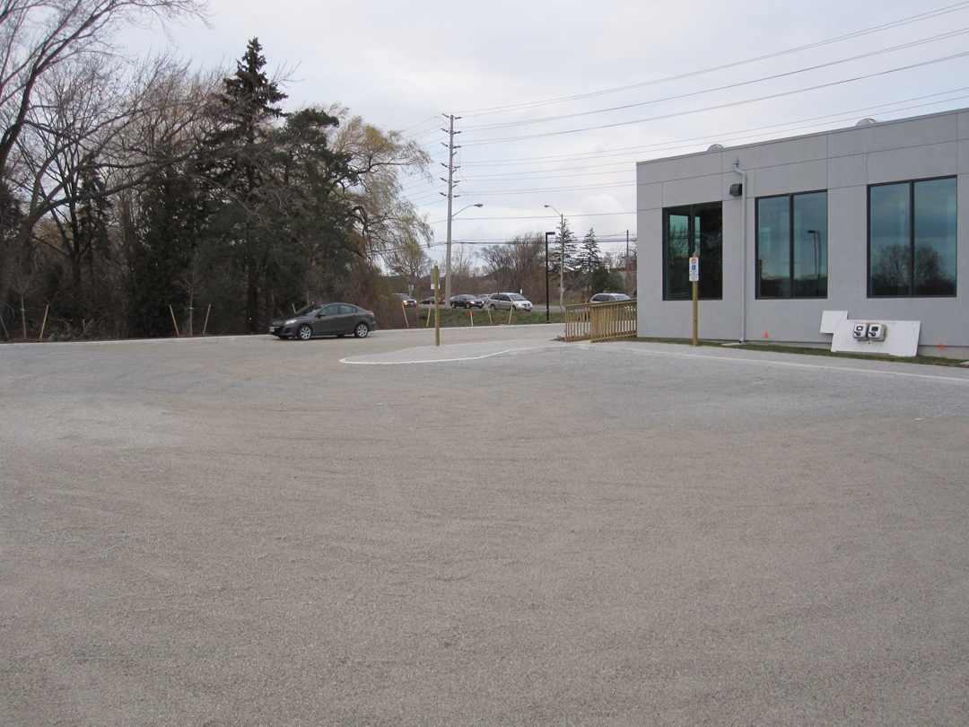 Completed Gravelpave2 permeable parking lot