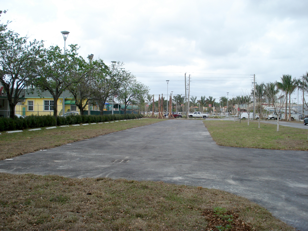 Grass parking at the former Orange Bowl