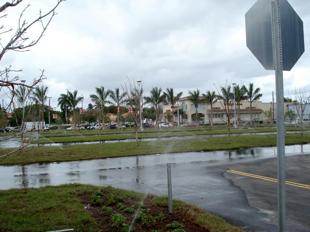 Grass Porous Parking at the Miami Marlins Baseball Stadium