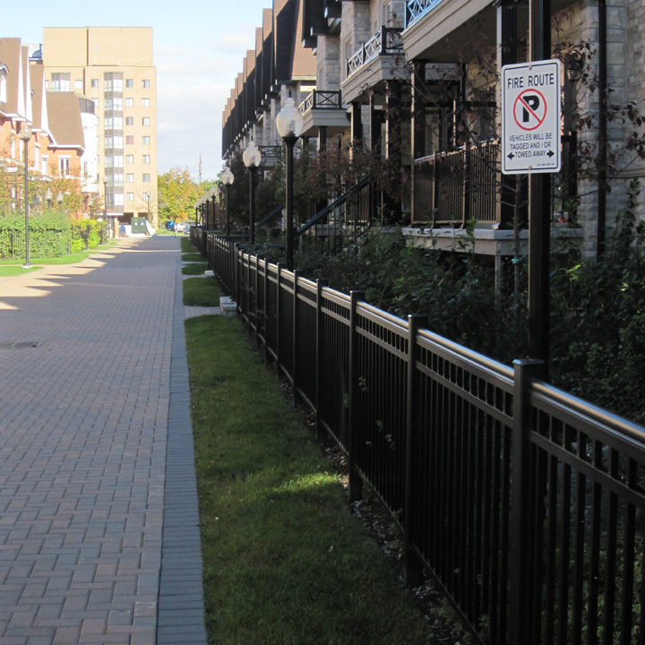 Grass permeable fire lane