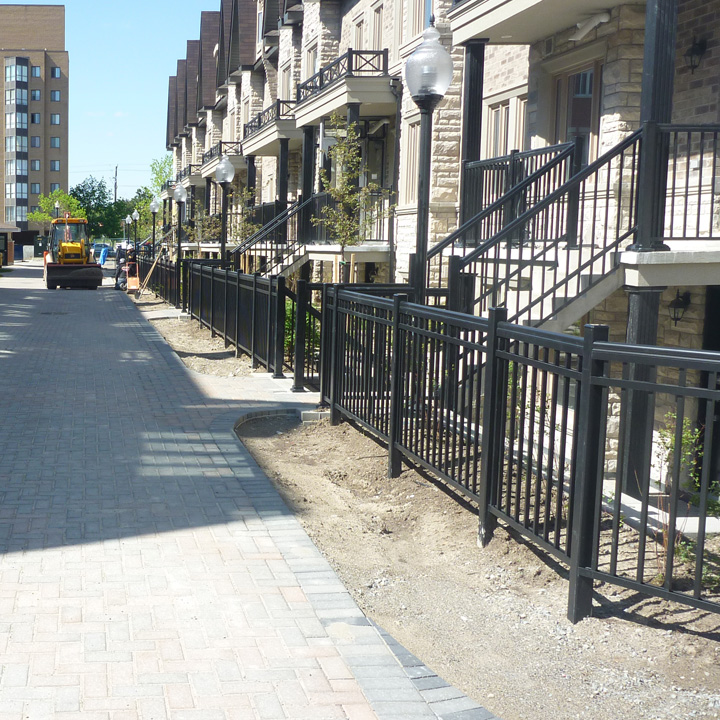 During installation of the Grass paver fire lane