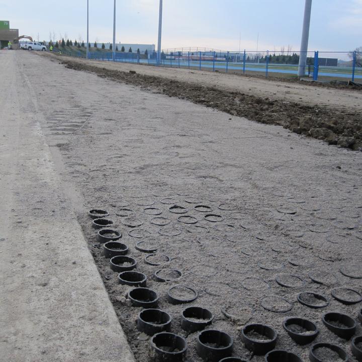 Sand going into Grasspave2