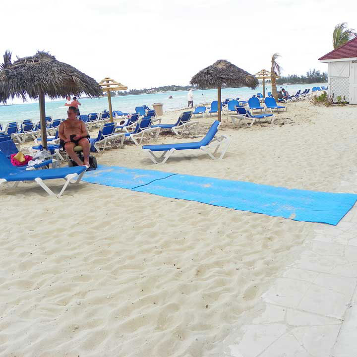 The Beachrings2 mats are easily rolled up.