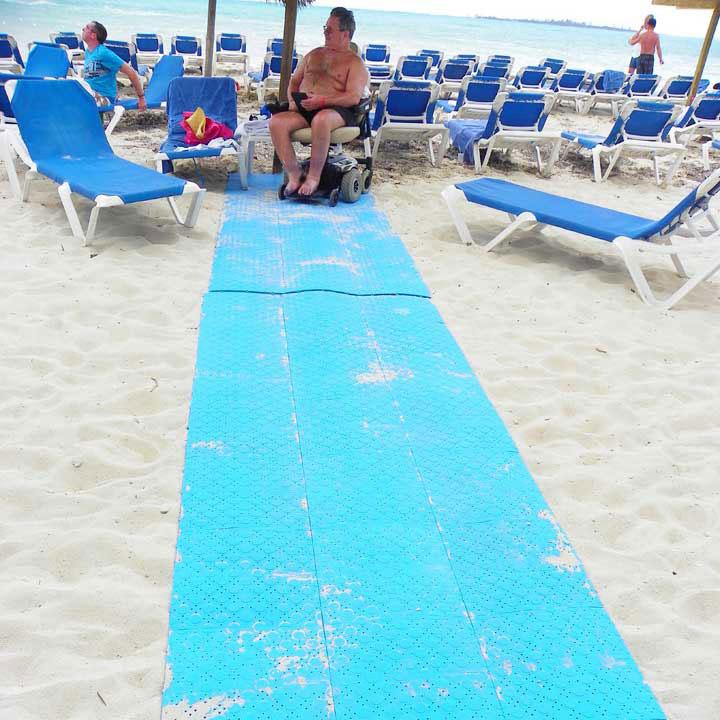Beachrings2 boardwalk system for wheelchairs.