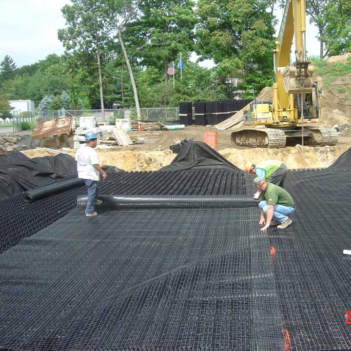 Geogrid on Rainstore3 detention system