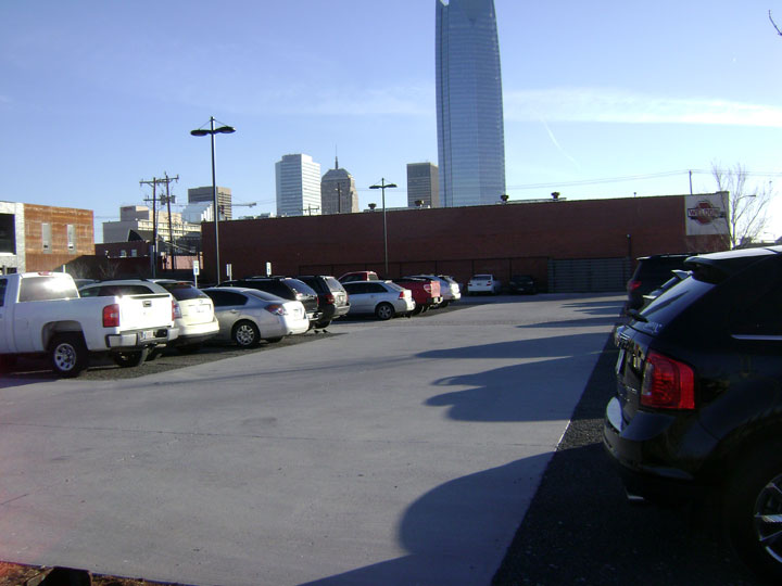 Permeable parking at the Hart Building OKC