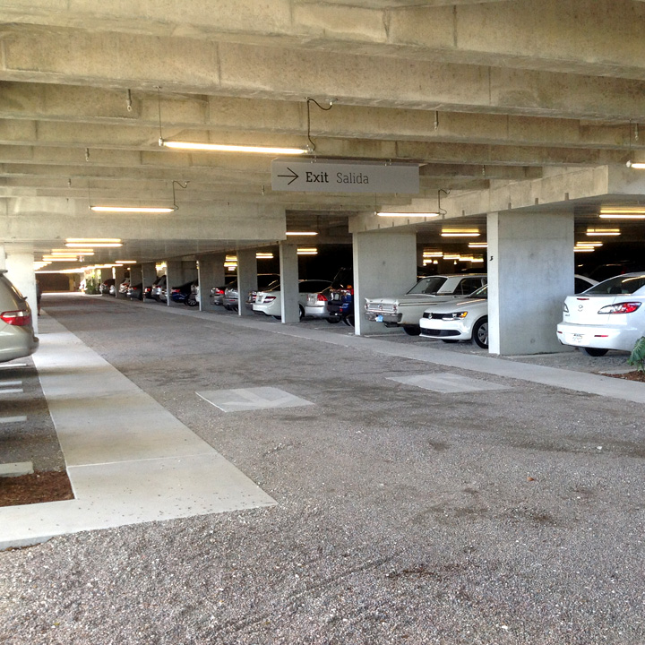 Parking structure with Gravelpave2