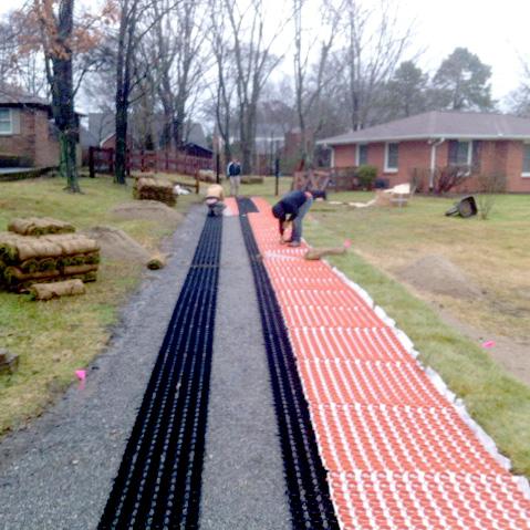 Gravelpave2 ribbon driveway