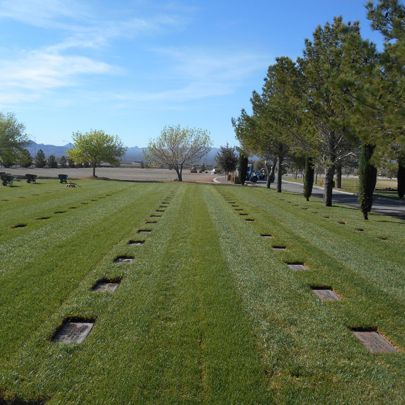 Completed National Cemetery Marker Stabilization with grass pavers - Grasspave2