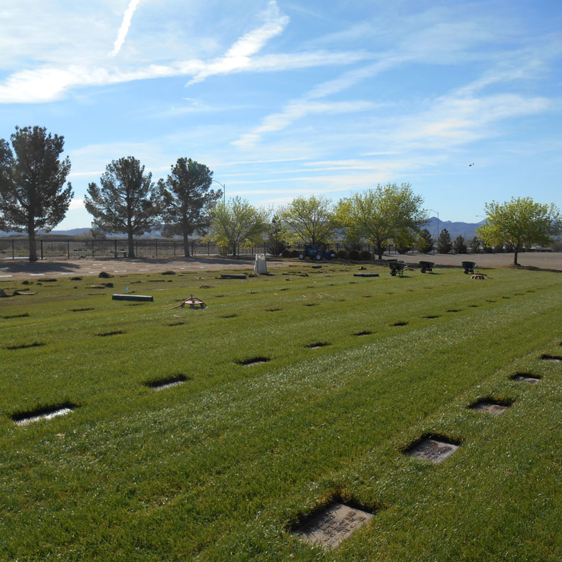 National Cemetery Marker Stabilization with grass pavers - Grasspave2