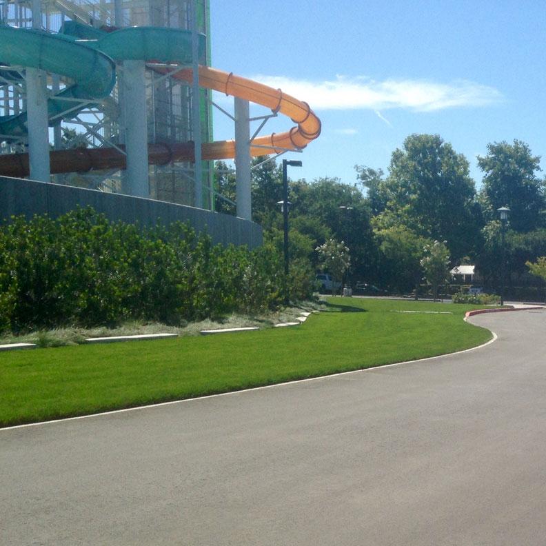 Grass Paver fire lane meets asphalt